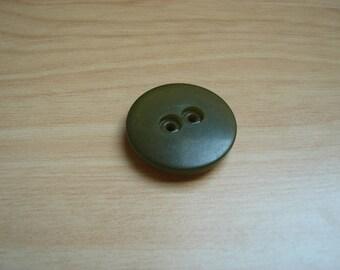plastic button round green