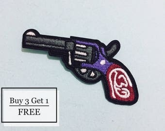 Gun Patch - Iron on Patch, Sew On Patch, Embroidered Patch