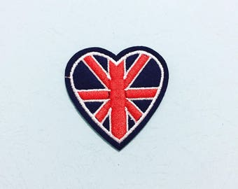 UK Patch  - Iron on Patch, Sew On Patch, Embroidered Patch