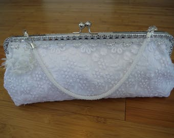 Adelaide, A unique handcrafted clutch bag for wedding or special occasion.