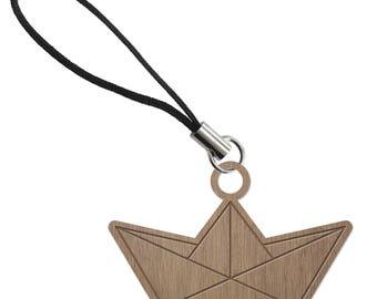BOAT - ORIGAMI - laser cut wood - strap