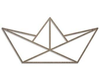 BOAT ORIGAMI laser cut wood size E