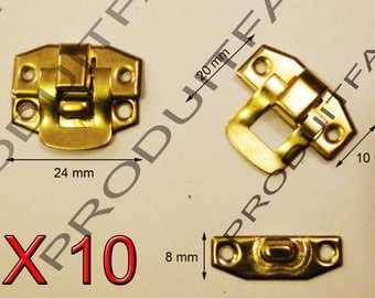 Set of 10 clasps Laitone latch lock box treasure chest box 24 by 20 screws included