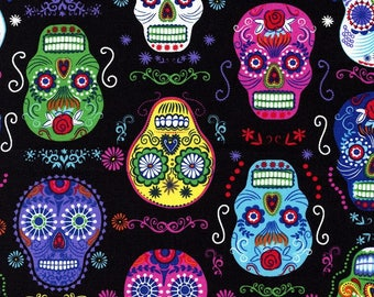 Patchwork skull timeless treasures fabric