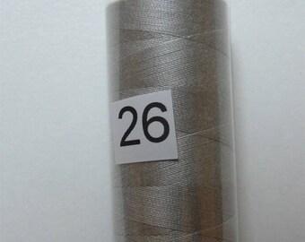 Reel 360 m light grey polyester yarn