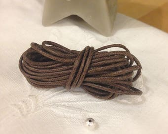 CHOCOLATE waxed cotton cord
