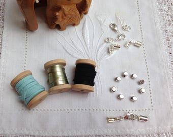 """""""BLUE MOON"""" suede bracelet Kit"""