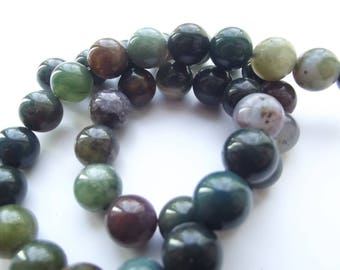 Indian agate multicolor 10 mm PREETI 942 38 smooth round beads
