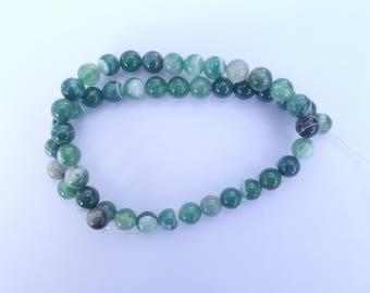 agate Green 8 mm CYA 313 48 beads