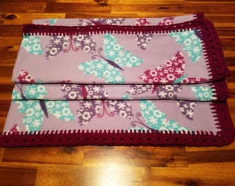 Butterfly Fleece Throw Blanket