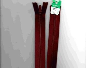 """Closure zipper""""metal"""" not separable Burgundy 18cm"""