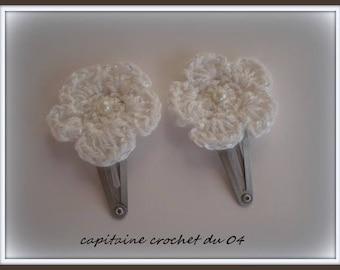 Two hair clips/clip/hair clip little girl/clips girl/hair flower/flower/flower/girl/clips clips clips clips