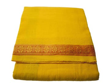 Fabric yellow saffron red Longhi 1.80 m / 1.07 m x 1