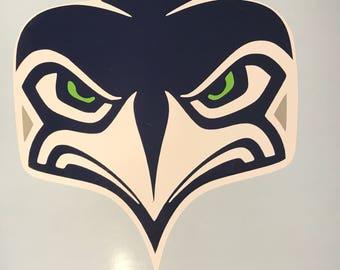 Seahawks new alternate logo. Car Decal Custom - Window Sticker - Car Window Sticker Decals - Laptop Sticker - Car Stickers