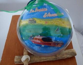 ball acrylic 14.5 cm Arcachon basin in 3D
