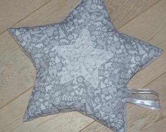 cushion star lace winter Christmas
