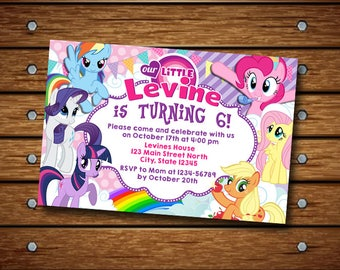 My Little Pony Invitation,My Little Pony Birthday Invitation,My Little Pony,My Little Pony Birthday,My Little Pony Invites,My Little Pony