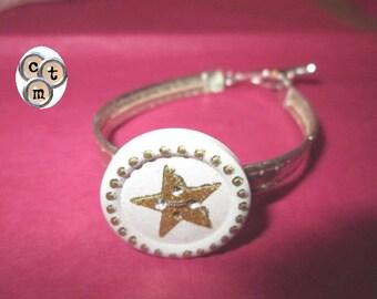 "Mother bracelet, gold button ""Star"""