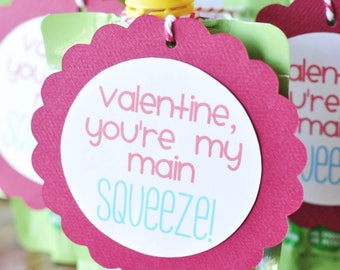 You're My Main Squeeze Valentine's Day Tag