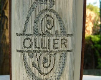 Make cutting your name or any word on a book carved