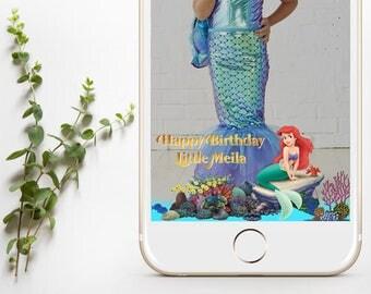Little Mermaid Snapchat Geofilter, Little Mermaid Geofilter, Little Mermaid Party, Children's Birthday Ariel Filter,Princess Ariel Geofilter