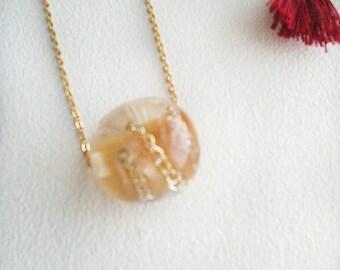 "Necklace Golden Kallline ""bead chain"""