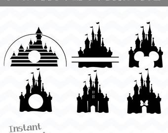 disney castle svgdisney svgcastle silhouettes svgdisney castle cut out