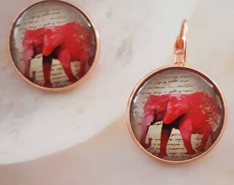 Red Elephant earrings