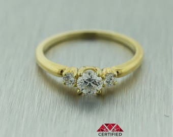Tiffany and Co 18k Solid Yellow Gold 0.50ctw Diamond Engagement Ring