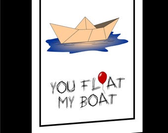 Personalised IT, Paper Boat Valentines Card