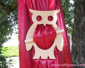 2 fretwork Owl 2 curtain tiebacks