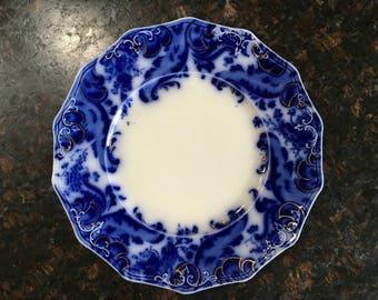 Antique china, flow blue, dinner plates