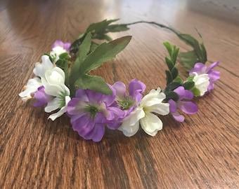 Light Purple Flower Crown
