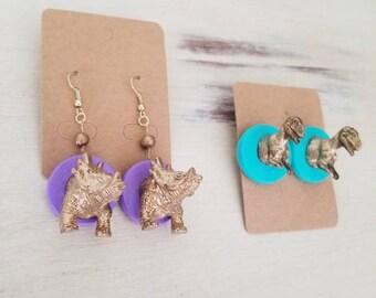 Dinosaur Taxidermy Earrings