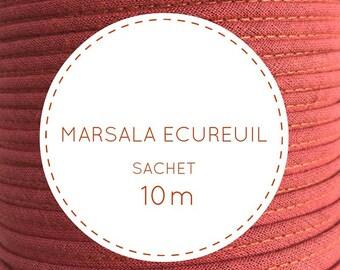 10 m bias - Marsala squirrel pouch