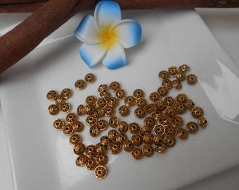 10 bronze spacer beads - Tibetan 7mm