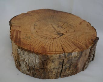 Natural Wooden Wedding Cake Stand