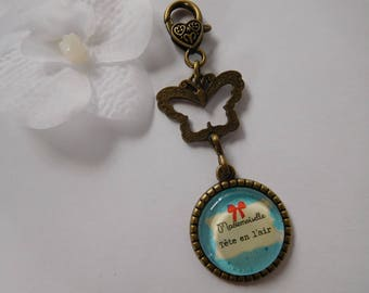 """Miss heads up"" purse jewelry or key ring"
