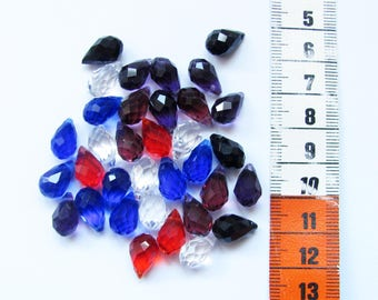 Set of 34 mix colours 14x8mm swarovki Crystal briolettes