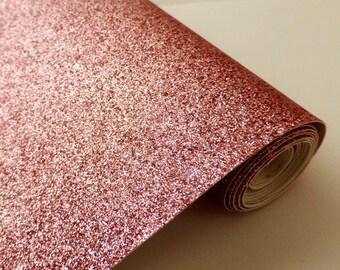 Tissu micro paillettes,  glitter coloris rose blush30/25cm, à coudre pour customisation, couture et DIY , lavable