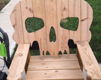 Bad Ass Skull Chair Handmade Heavy Duty Oversized Patio Deck Furniture  Quality Custome Awesome Deal Reduced
