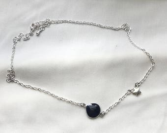 Sapphire and Stars Necklaces