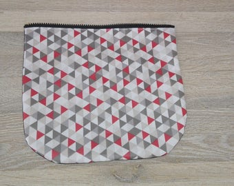 Interchangeable flap bag with flap and interchangeable handle from the same collection