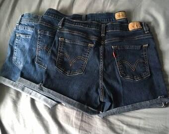 Custom High Waisted Denim Short
