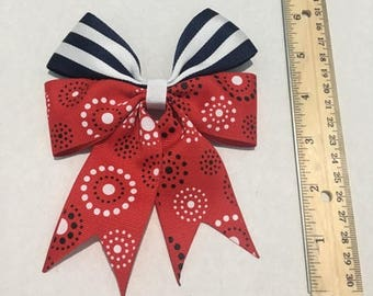 Patriotic hair bow from Bouncy Bows CA