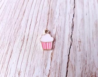 Gourmet cupcake pink and white