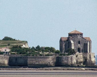 Church Holy Radegund by Talmont on Gironde in Charente Maritime