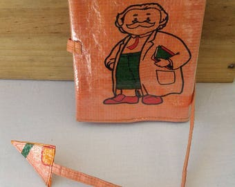 Joke or recycled rice sack tobacco pouch