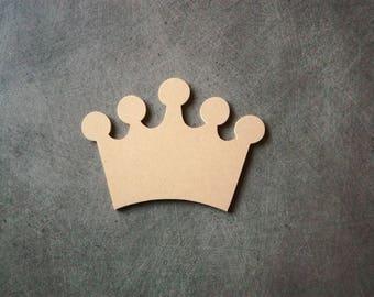 Crown mdf wooden hanging bracket blank L 15 cm x H 11 cm
