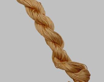 1 skein of 25 meters of thread nylon braided cord 1 mm Brown
